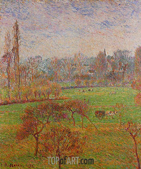 Morning, Autumn, Eragny, 1892 | Pissarro | Gemälde Reproduktion