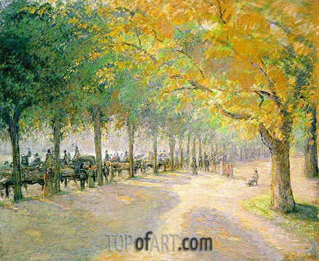 Hyde Park, London, 1890 | Pissarro | Gemälde Reproduktion