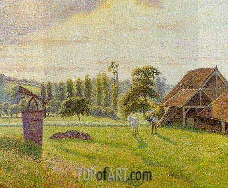 Brickworks at Eragny, 1888 | Pissarro | Painting Reproduction