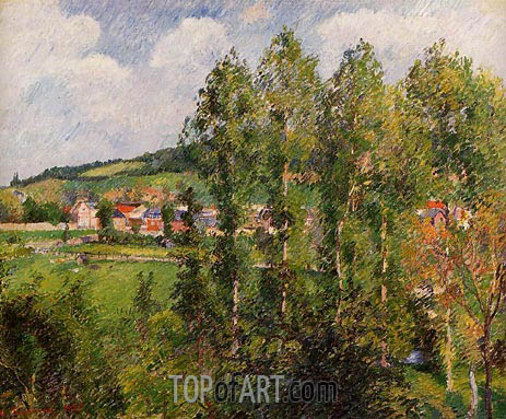 Gisors, New Section, 1885 | Pissarro | Painting Reproduction