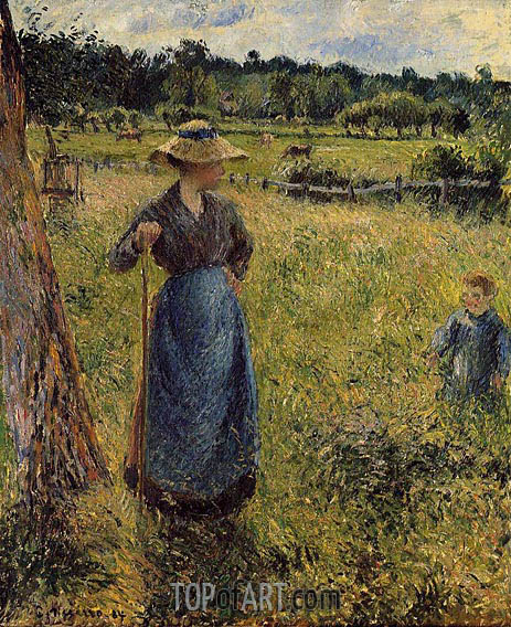 The Tedder, 1884 | Pissarro | Gemälde Reproduktion