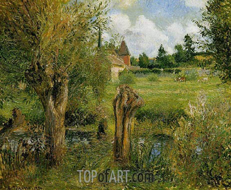 The Banks of the Epte at Eragny, 1884 | Pissarro | Gemälde Reproduktion