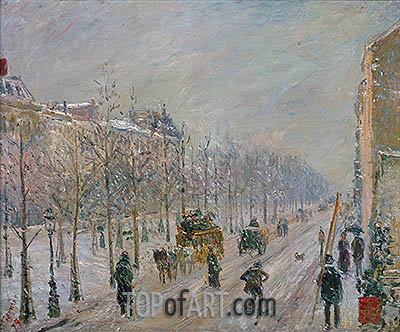 The Boulevards under Snow, 1879 | Pissarro | Painting Reproduction