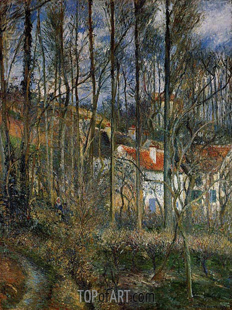 The Cote des Boeufs at L'Hermitage, near Pontoise, 1877 | Pissarro | Painting Reproduction