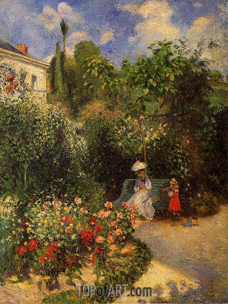 The Garden at Pontoise, 1877 | Pissarro | Painting Reproduction