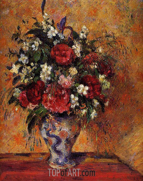 Vase of Flowers, c.1877/78 | Pissarro | Painting Reproduction