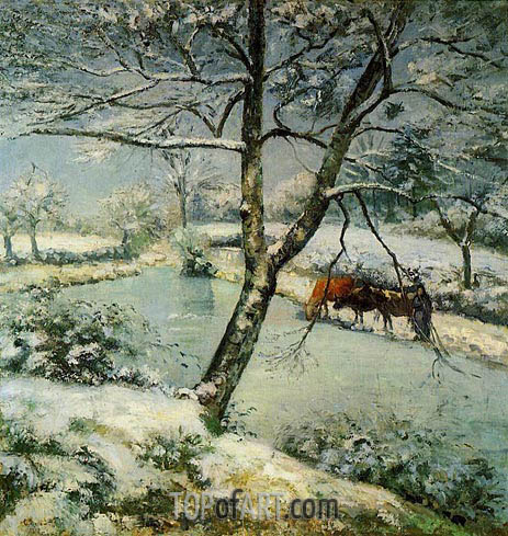 Winter at Montvoucault (The Effect of Snow), 1875 | Pissarro | Gemälde Reproduktion