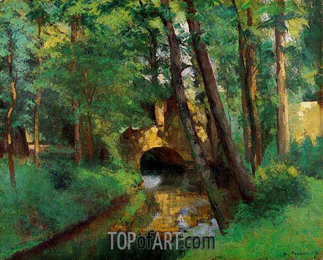The Little Bridge, Pontoise, 1875 | Pissarro | Painting Reproduction