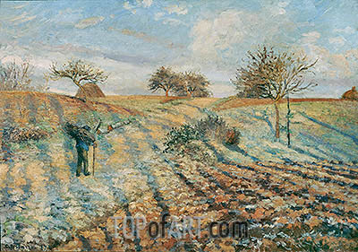 The Hoar Frost, 1873 | Pissarro | Painting Reproduction