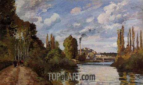 Riverbanks in Pontoise, 1872 | Pissarro | Painting Reproduction