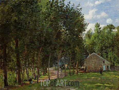 The House in the Forest, 1872 | Pissarro | Gemälde Reproduktion
