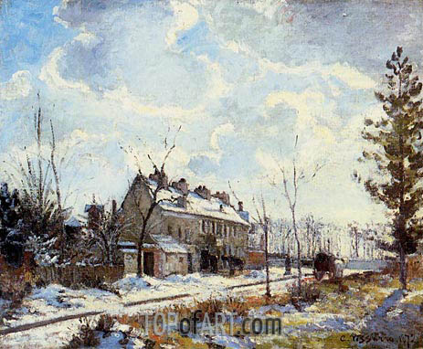 Louveciennes Road, The Effect of Snow, 1872 | Pissarro | Gemälde Reproduktion