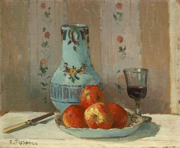 Still Life with Apples and Pitcher, 1872 | Pissarro | Gemälde Reproduktion