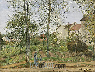 Landscape near Louveciennes, 1870 | Pissarro | Painting Reproduction
