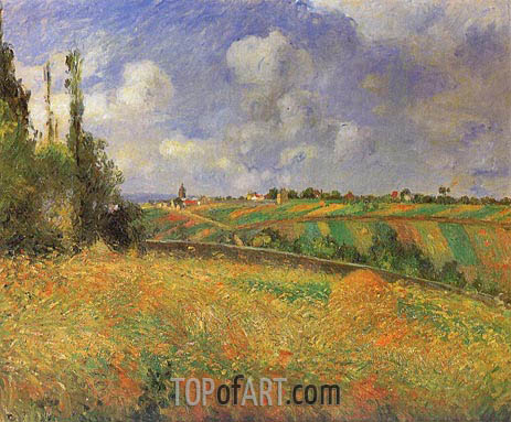 Rye Fields at Pontoise, 1877 | Pissarro | Painting Reproduction