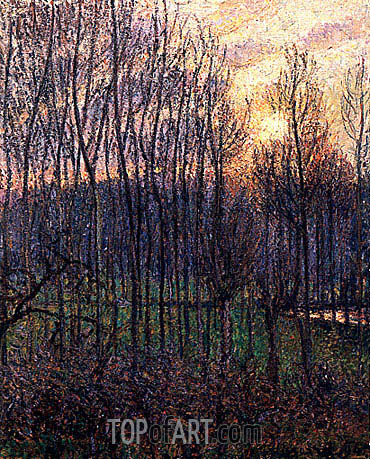 Sunset at Eragny, 1894 | Pissarro | Painting Reproduction
