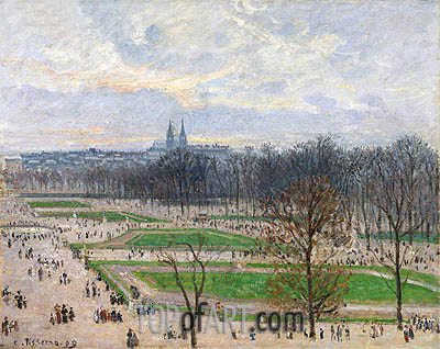 The Garden of the Tuileries on a Winter Afternoon, 1899 | Pissarro | Painting Reproduction