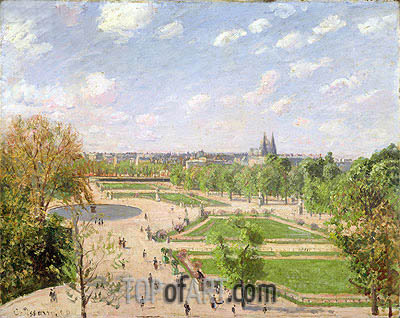 The Garden of the Tuileries on a Spring Morning, 1899 | Pissarro | Painting Reproduction