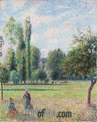Two Peasant Women in a Meadow, 1893 | Pissarro | Gemälde Reproduktion
