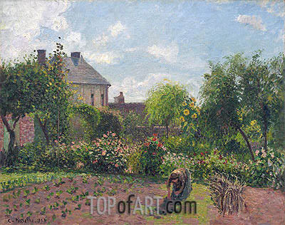 The Artist's Garden at Eragny, 1898 | Pissarro | Gemälde Reproduktion