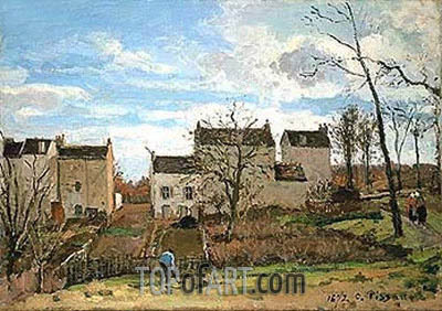 Spring in Pontoise, 1872 | Pissarro | Painting Reproduction