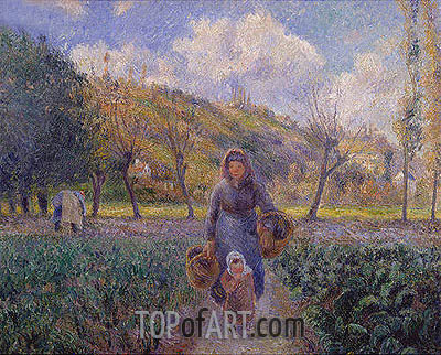 Super In The Vegetable Garden 1881 By Pissarro Interior Design Ideas Gentotryabchikinfo