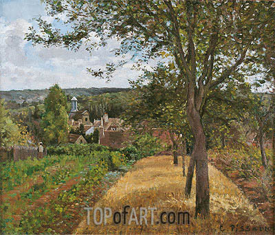 View of the Village of Louveciennes, c.1870 | Pissarro | Painting Reproduction