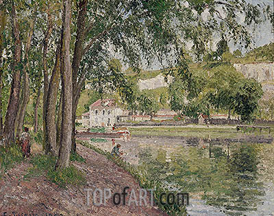 Moret, the Loing Canal (The Towpath at Saint-Mammes), 1902 | Pissarro | Gemälde Reproduktion