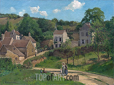 The Hermitage at Pontoise, c.1867   Pissarro   Painting Reproduction