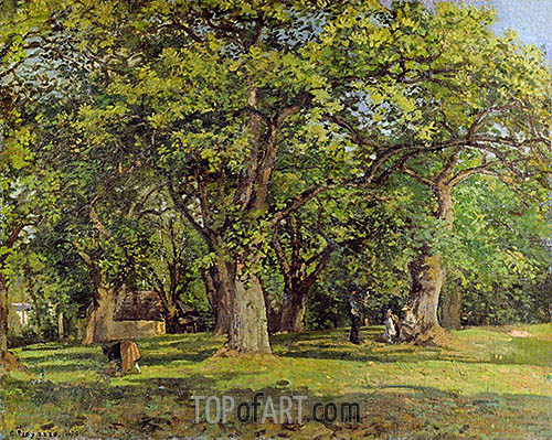 The Forest, 1870 | Pissarro | Painting Reproduction