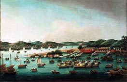 Hong Kong Harbour | Cantonese School | Painting Reproduction