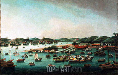 Hong Kong Harbour, undated | Cantonese School | Painting Reproduction