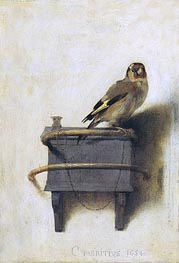 The Goldfinch, 1654 von Carel Fabritius | Gemälde-Reproduktion