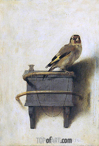 The Goldfinch, 1654 | Carel Fabritius | Painting Reproduction