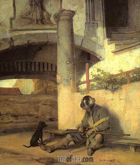 The Sentry, 1654 | Carel Fabritius | Painting Reproduction