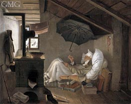 The Poor Poet | Carl Spitzweg | Painting Reproduction