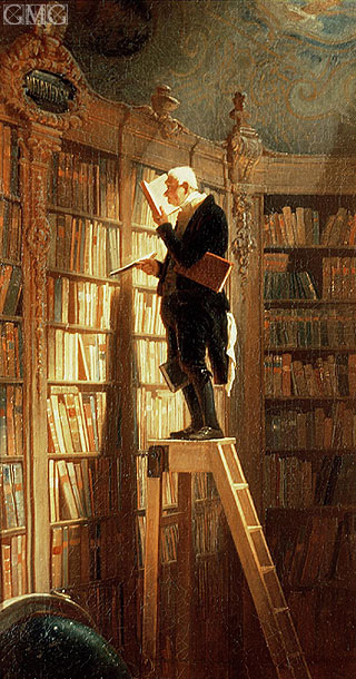 The Book Worm, Undated | Carl Spitzweg | Painting Reproduction