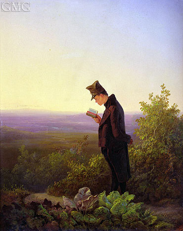 Reading the Breviary, The Evening, c.1845   Carl Spitzweg   Painting Reproduction