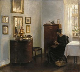 Woman with Fruit Bowl, c.1900/10 by Carl Vilhelm Holsoe | Painting Reproduction