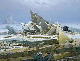The Polar Sea (The Sea of Ice), 1824 by Caspar David Friedrich | Painting Reproduction