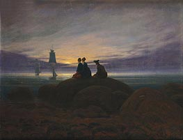 The Moon Rising over the Sea, c.1822 von Caspar David Friedrich | Gemälde-Reproduktion