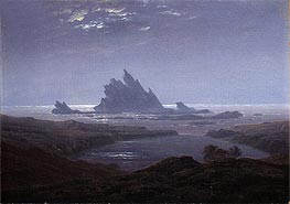 Rocky Reef on the Sea Shore | Caspar David Friedrich | Painting Reproduction