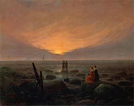 Moonrise over the Sea, 1821 von Caspar David Friedrich | Gemälde-Reproduktion