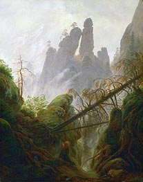 Rocky Ravine, c.1822/23 by Caspar David Friedrich | Painting Reproduction