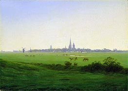 Meadows near Greifswald | Caspar David Friedrich | Painting Reproduction