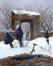 Graveyard under Snow | Caspar David Friedrich | Painting Reproduction