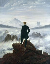 The Wanderer Above a Sea of Mist, 1818 by Caspar David Friedrich | Painting Reproduction