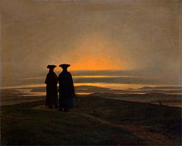 Sunset, Brothers (Evening Landscape with Two Men), c.1830/35 von Caspar David Friedrich | Gemälde-Reproduktion