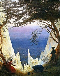Chalk Cliffs on Rugen | Caspar David Friedrich | Painting Reproduction