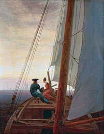 On the Sailing Boat | Caspar David Friedrich | Painting Reproduction